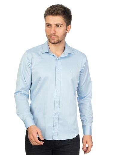 White Stone Pedro Brand Slim Fit Pamuklu Gömlek B.Mavisi Mavi